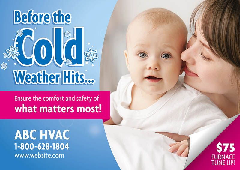 Hvac Direct Mail Postcard Marketing Ideas By Postcardmania Com Direct Mail Postcards Air Care Hvac Business