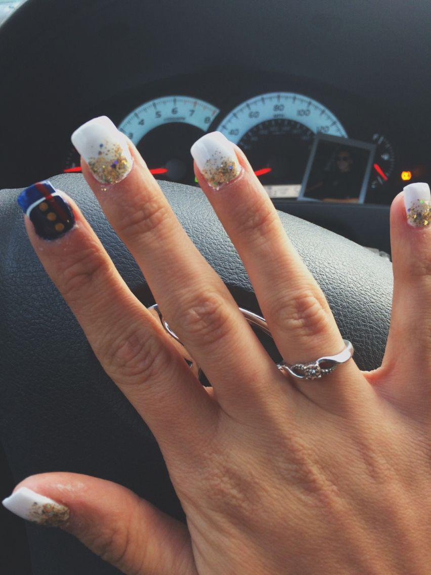 Usmc nail art marine corps nails | Beauty | Pinterest | Usmc nails ...