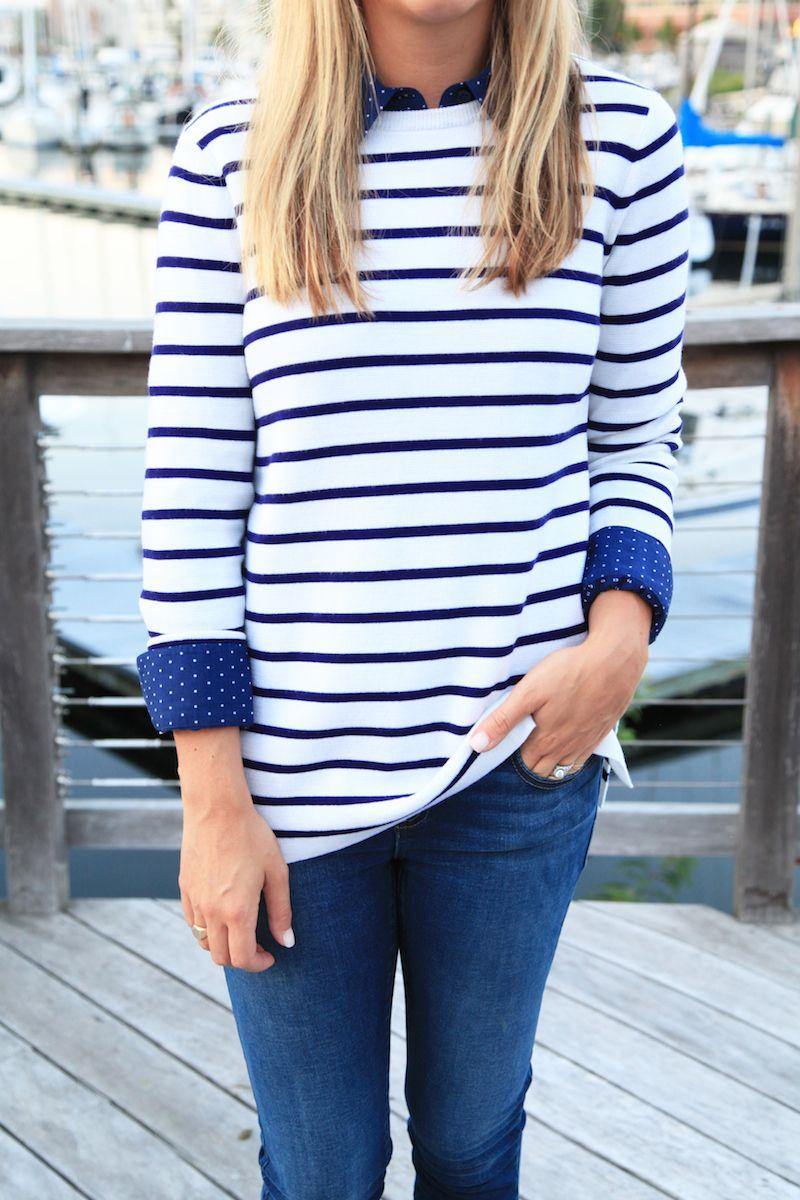 Stripes + jeans.