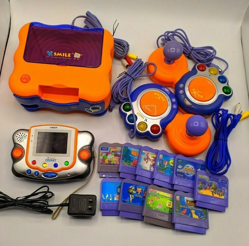 VTech V.Smile Pocket TV Learning System Video Game Console ...