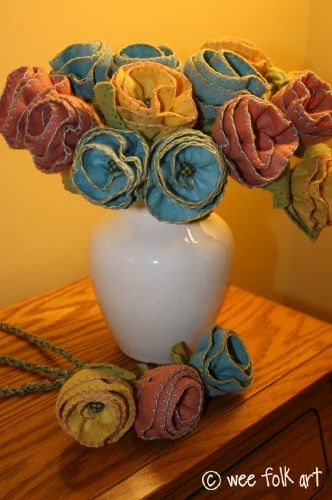 The English Instructions For The Felt Bouquet Craft Ideas