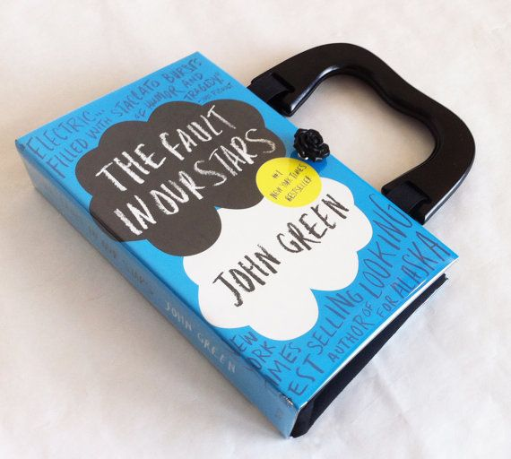 The Fault in Our Stars Book Purse Fault In Our door NovelCreations etsy €50,26
