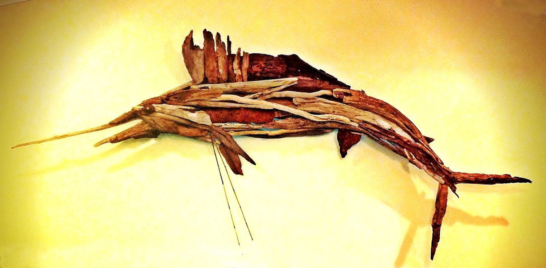 Driftwood Sculpture, Life Size Sailfish made to Order-MJ Original ...