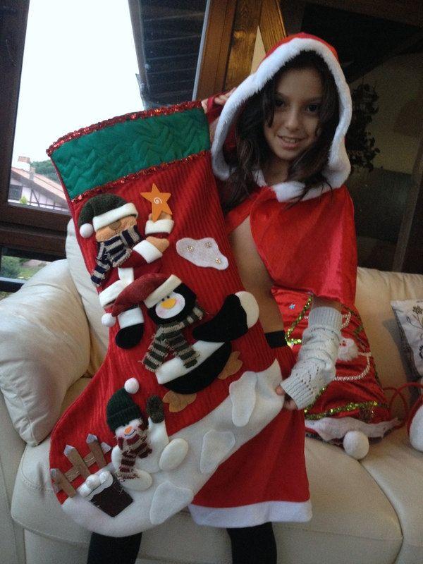 Large Christmas Stocking Personalized Stockings Xmas Sock ...
