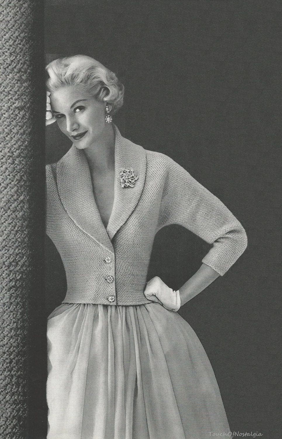 ELEGANT EVENING Jacket Knitting Pattern - Pure ELEGANCE Evening ...