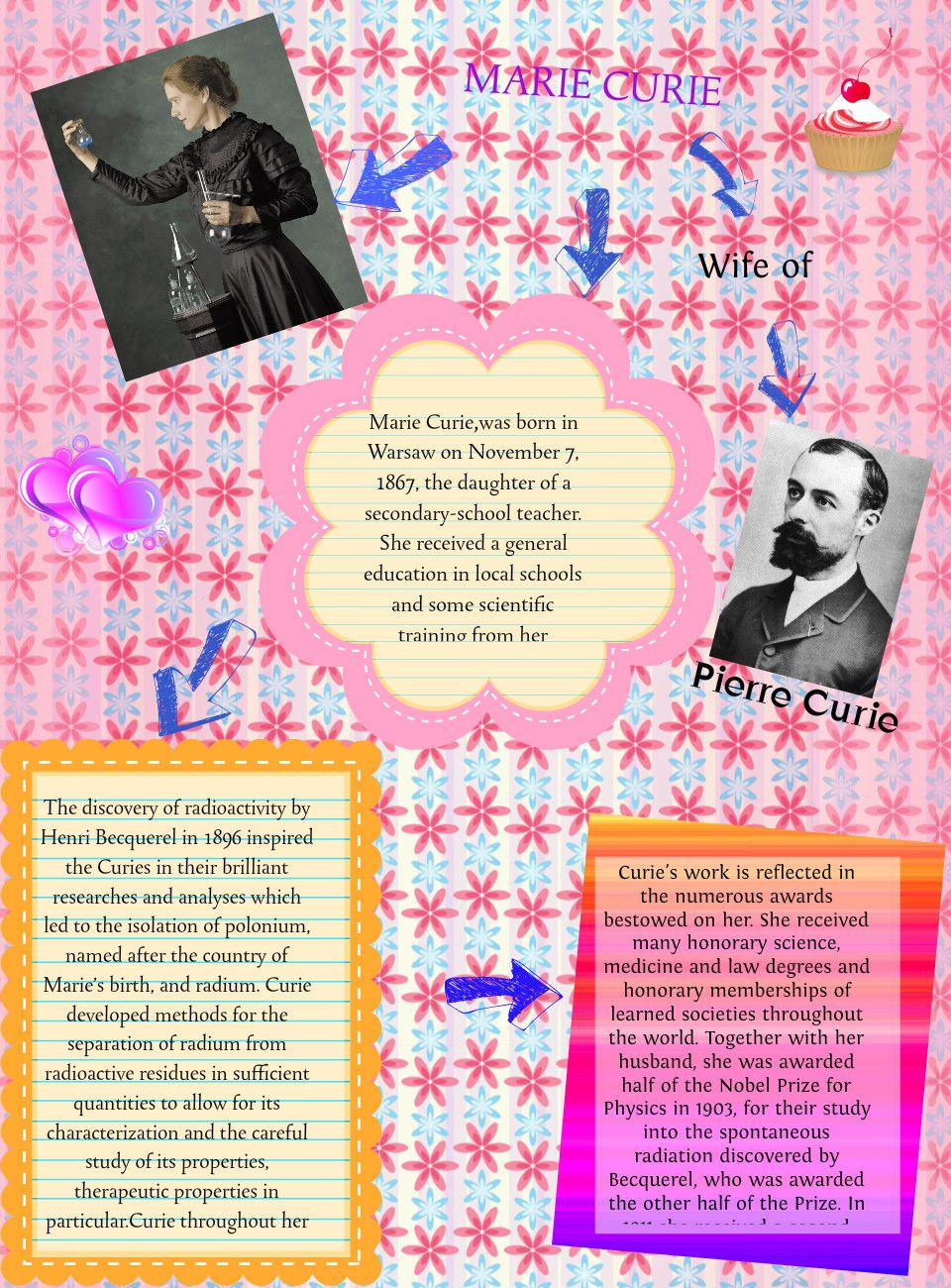 The color red scarlet letter project publish with glogster - Marie Curie