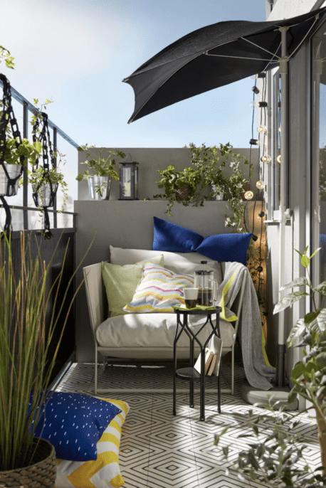 Vom Mini Balkon Zum Platzwunder In 5 Schritten Outdoor Seat Pads Ikea Cushions On Sofa