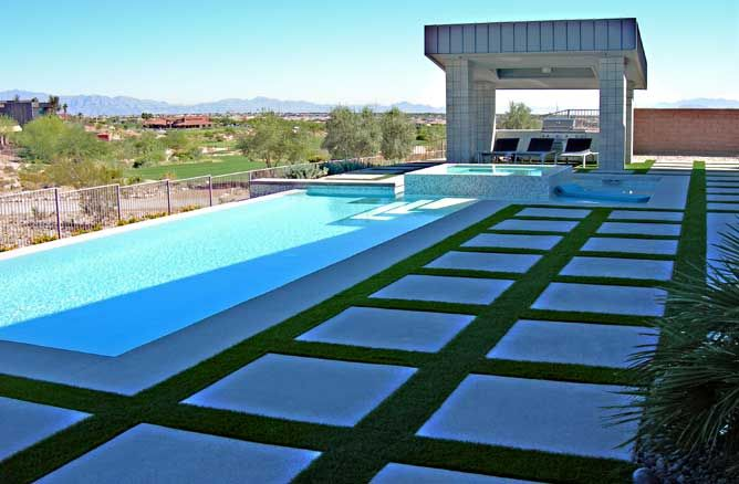 What about for the strip extending from the carport along the pool ...
