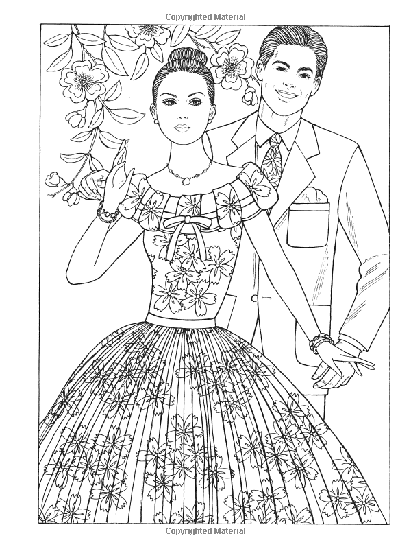 Creative Haven Fabulous Fashions Of The 1950s Coloring Book Adult Ming