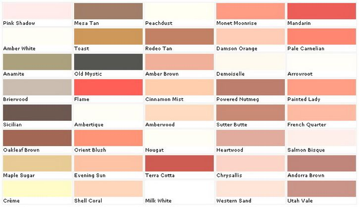Pink Toned Paint Sample Colors Chart 5