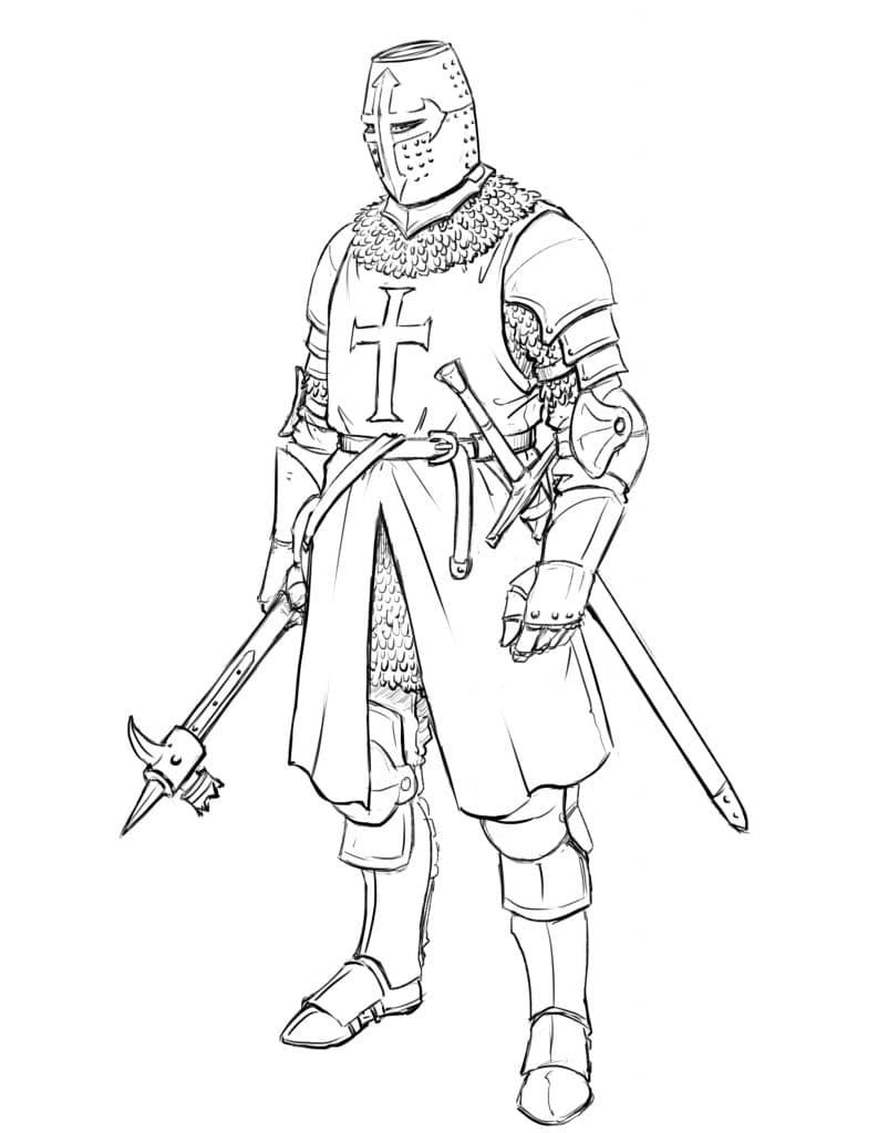 How To Draw A Templar Knight Full Body Improveyourdrawings Com Knight Drawing Armor Drawing Knight Tattoo