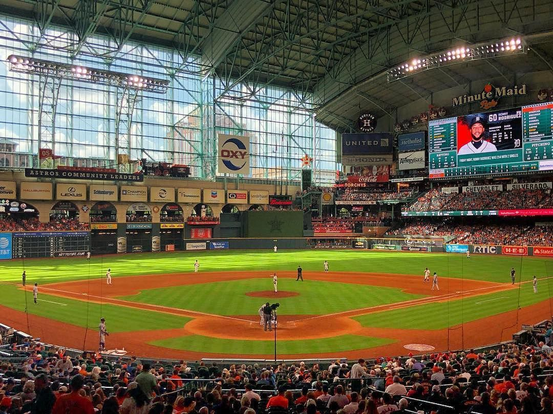 20 Likes 0 Comments Mlb Ballparks Mlb Ballparks On Instagram Minute Maid Park Houston Tx Minute Maid Park Minute Maid Park Houston Mlb Stadiums