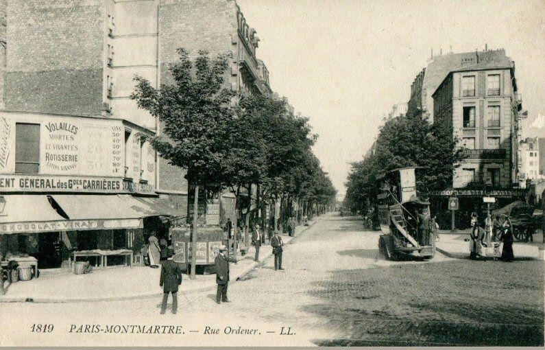 Les Anciennes Rues De Paris Rue Ordener 18 Me Arrondissement Vieux Paris Paris Rue De Paris