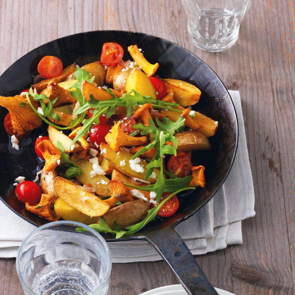 Schnelle Kartoffelpfanne Mit Pilzen Rezept Kartoffelpfanne Rezepte Essensrezepte