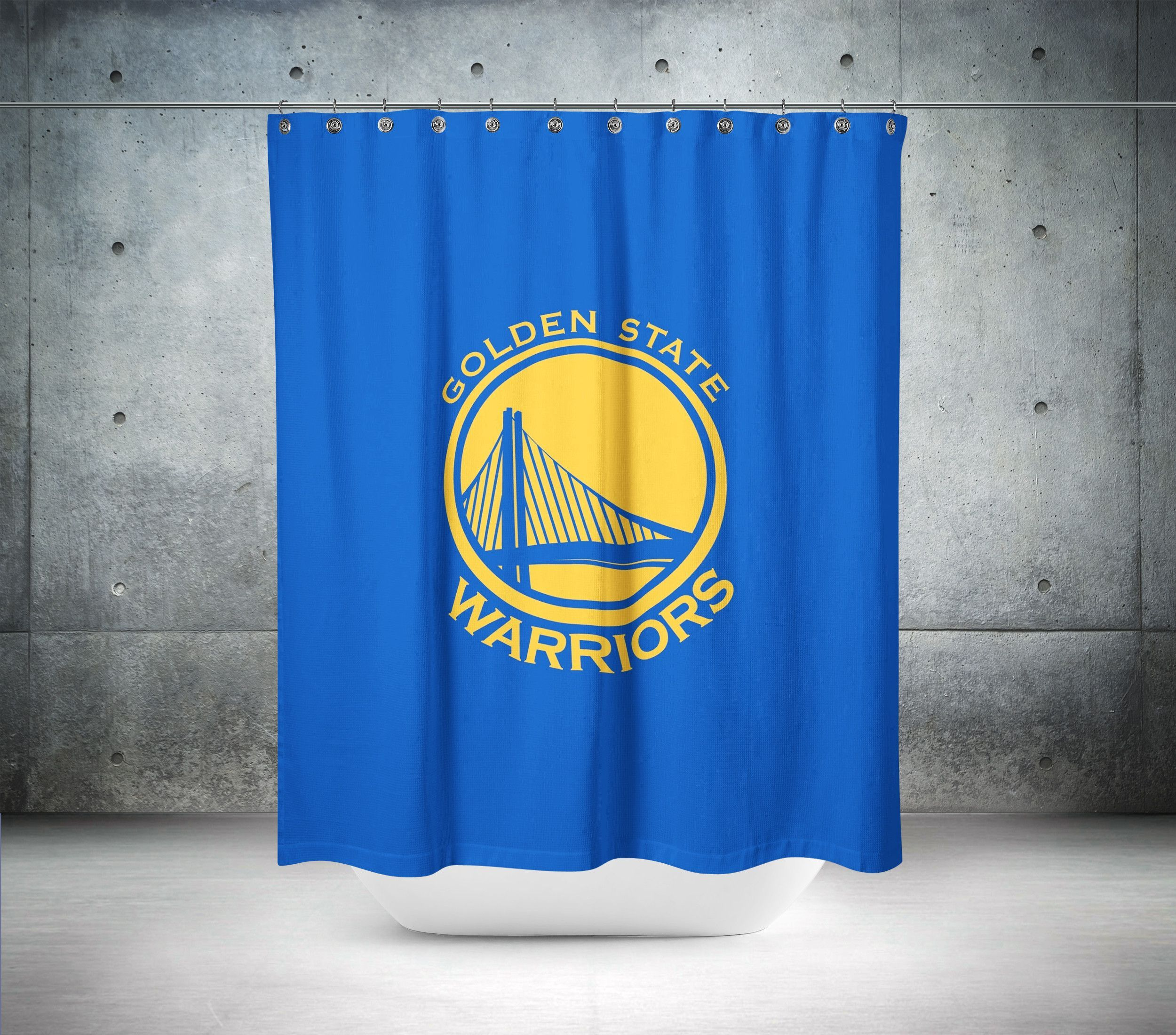 Golden State Warriors NBA Shower Curtain | NBA and Bespoke