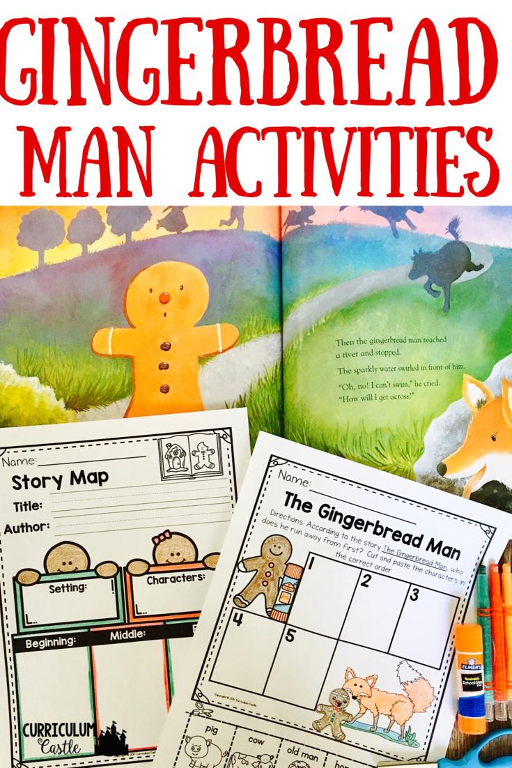 Gingerbread Gingerbread Man Activities Kindergartenklub