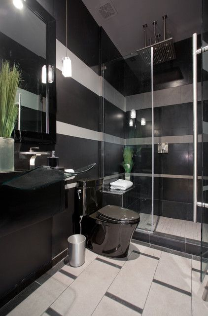Charmant Bathroom Ideas Grey And Black