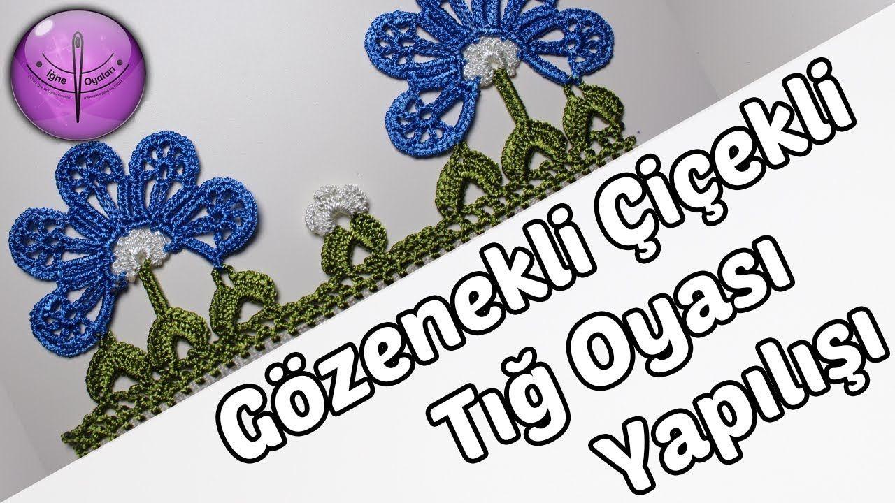 Tığ Oyası Yelpaze Çiçeği Modeli Yapılışı Anlatımlı Türkçe Videolu
