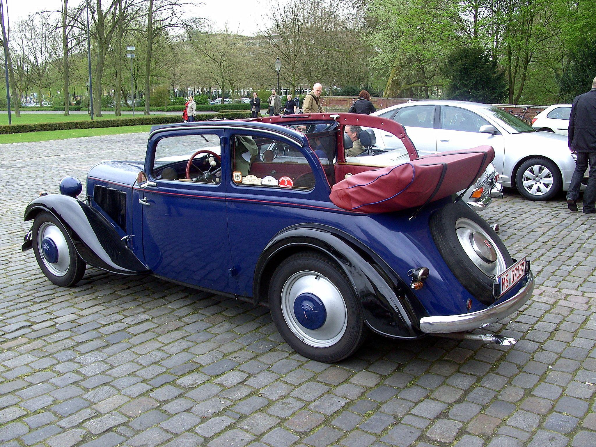 1938 adler trumpf junior cabrio limosine cars. Black Bedroom Furniture Sets. Home Design Ideas