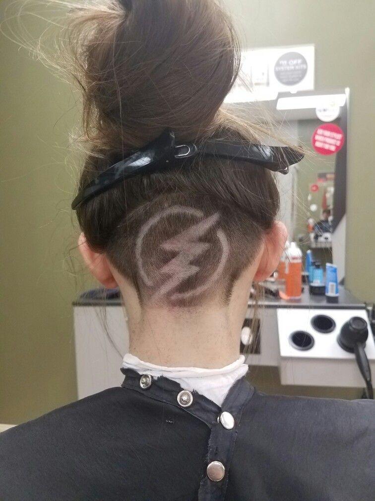 Lightning Bolt Shaved Design
