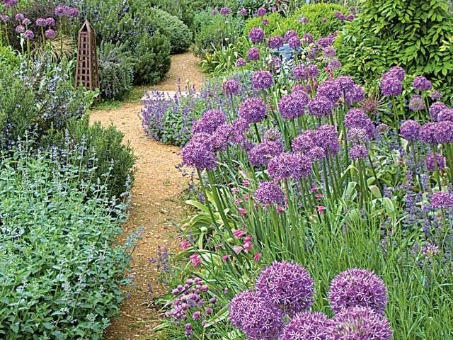id es de mises en sc nes au jardin avec l 39 ail d 39 ornement gardening pinterest flowers. Black Bedroom Furniture Sets. Home Design Ideas