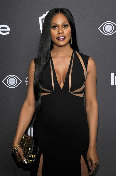 Actress Laverne Cox attends the 2017 InStyle and Warner Bros. 73rd Annual Golden Globe Awards Post-Party.