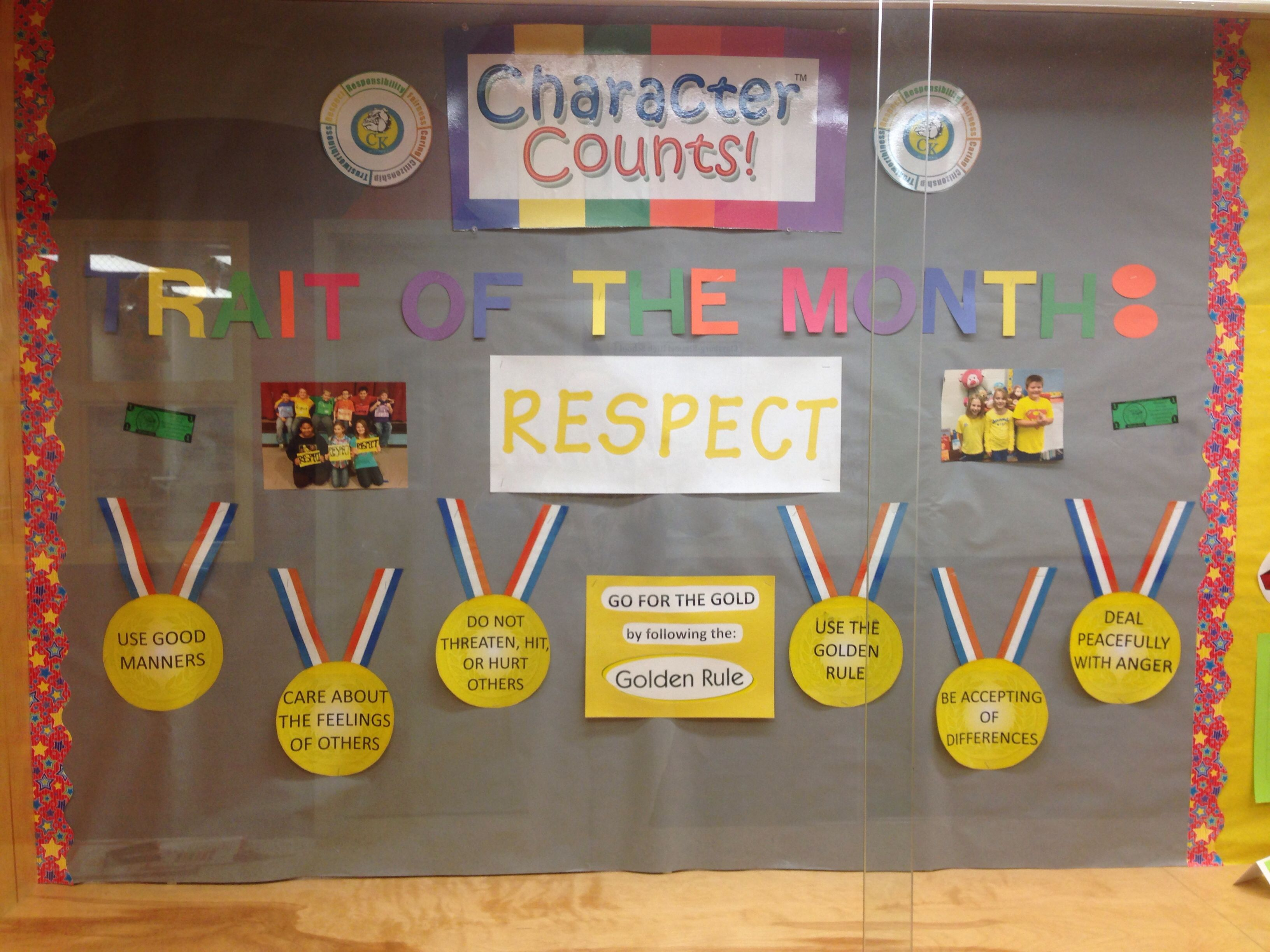 My Character Counts Respect Bulletin Board