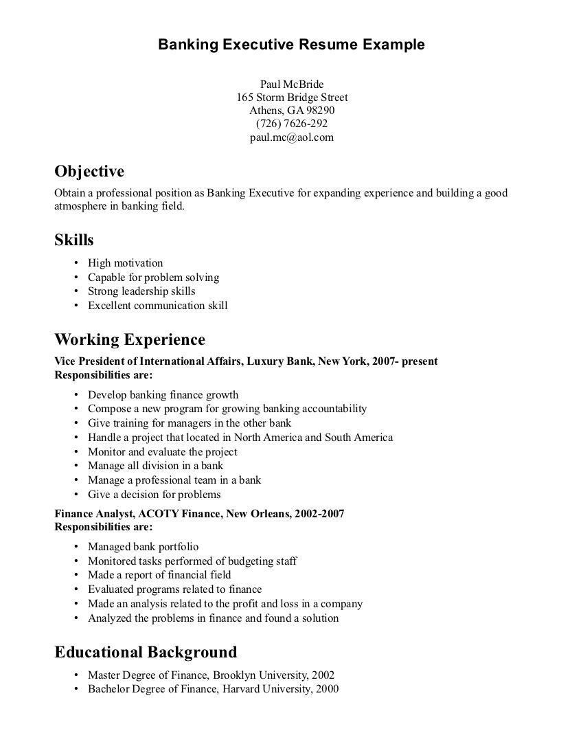 Expertise Resume Examples Free Samples For Every Career Example