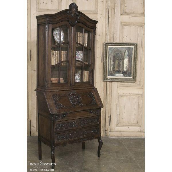 Antique Furniture | Antique Desks & Secretaries | Country French Secretary-Bookcase  | www. - Antique Furniture Antique Desks & Secretaries Country French