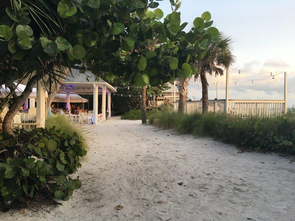 Wedding Ceremony And Tail Hour At The Sandbar Restaurant On North End Of Anna Maria Island Fl