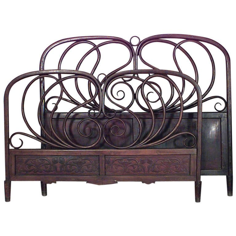 austrian bentwood queen sized bed by jacob u0026 josef kohn queen size size bedsvintage