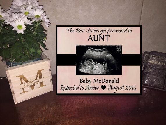 Best Sisters Get Promoted To Aunt Frame Aunt To Be Frame Ak