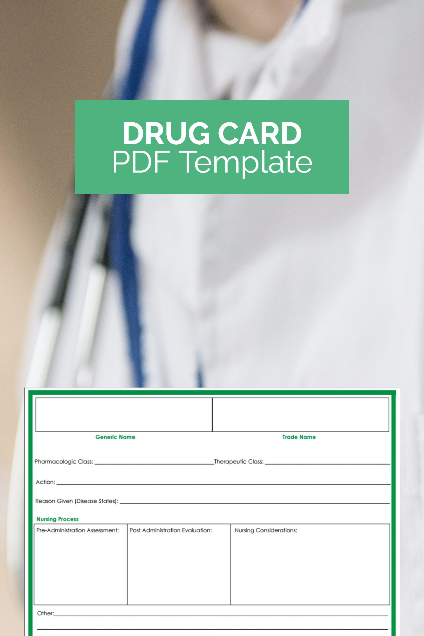 want a free drug card template that can make studying much easier perfect for nursing pharmacology