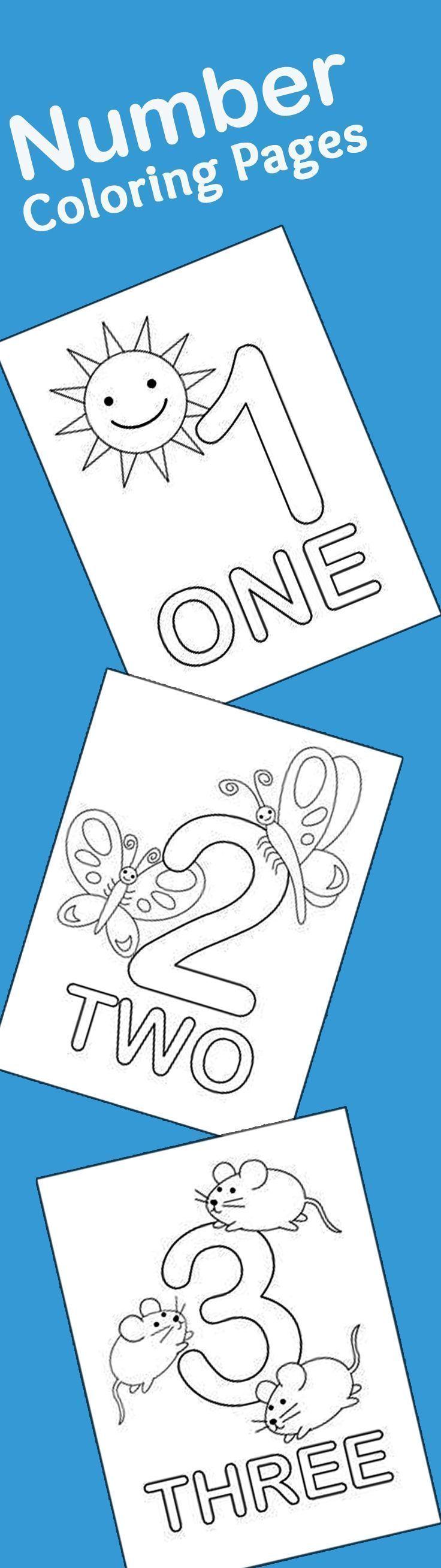 Top free printable number coloring pages online free printable