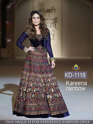 Partywear Bollywood Designer Traditional Gown Indian Wedding Dress