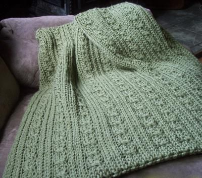 199 Cables And Ribs Baby Blanket Everyone Loves To Knit For A