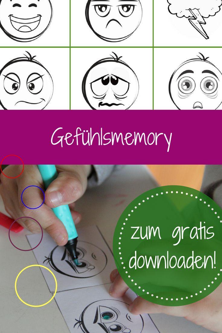 Gefühle einordnen: Memory Freebie im Herbst - gratis Download ...