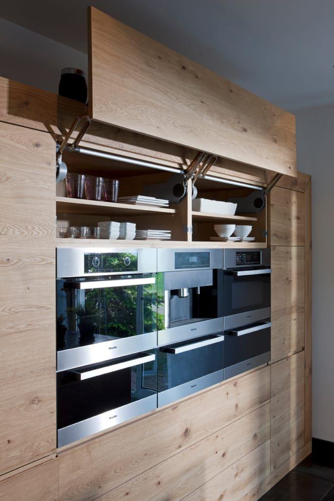 Küchen einbaugeräte in moderner landhausküche landhaus