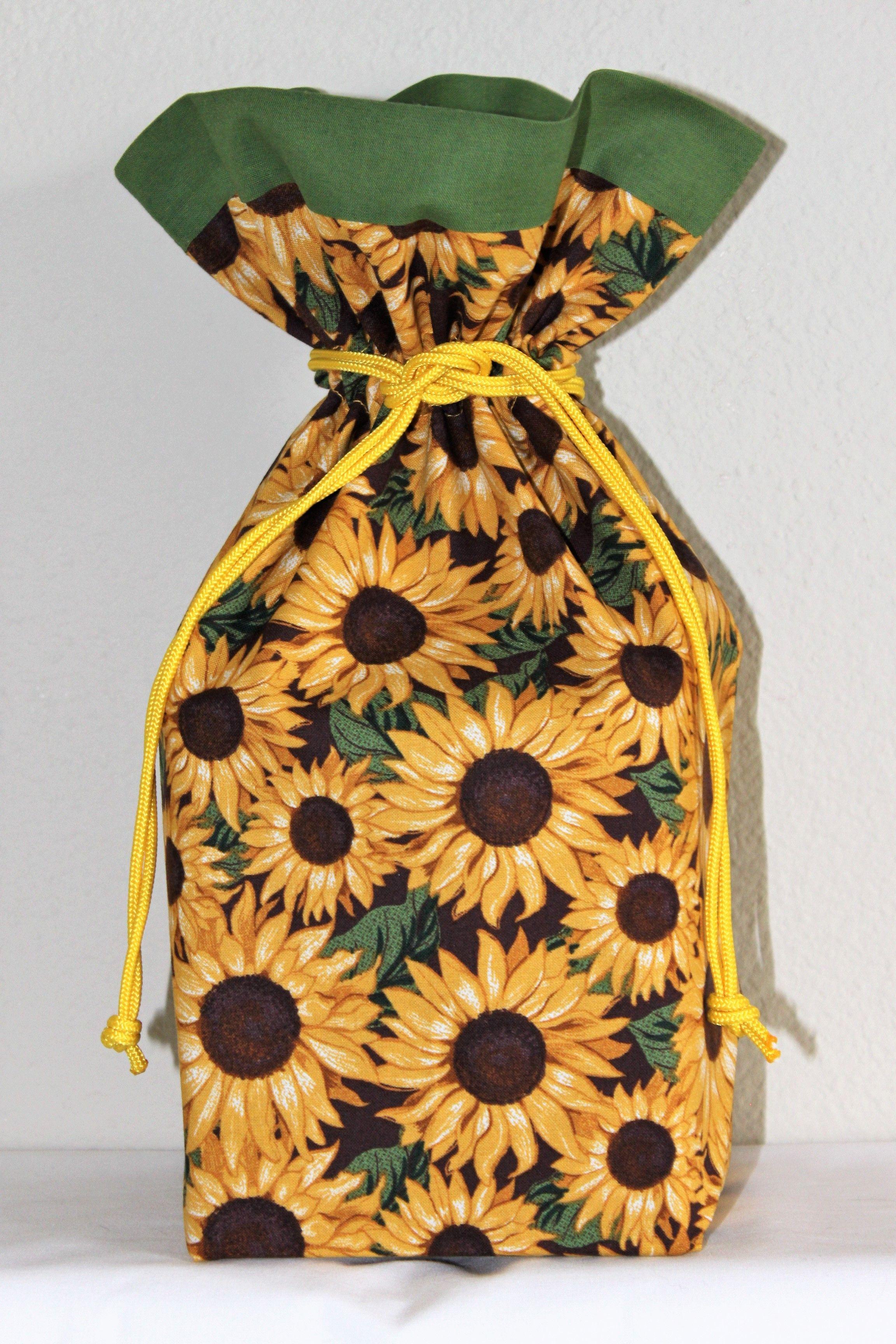 Fabric gift bag sunflower gift bag fabric gift bags