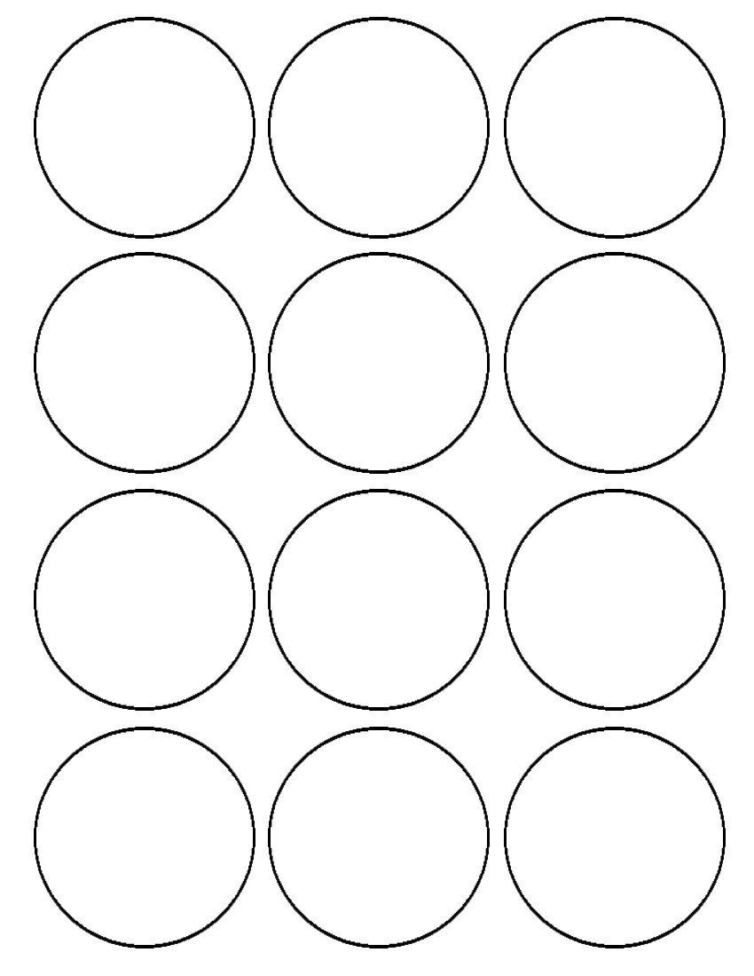 1 Inch Circle Label Template Flour Confections Printable Circles Circle Template Templates Printable Free