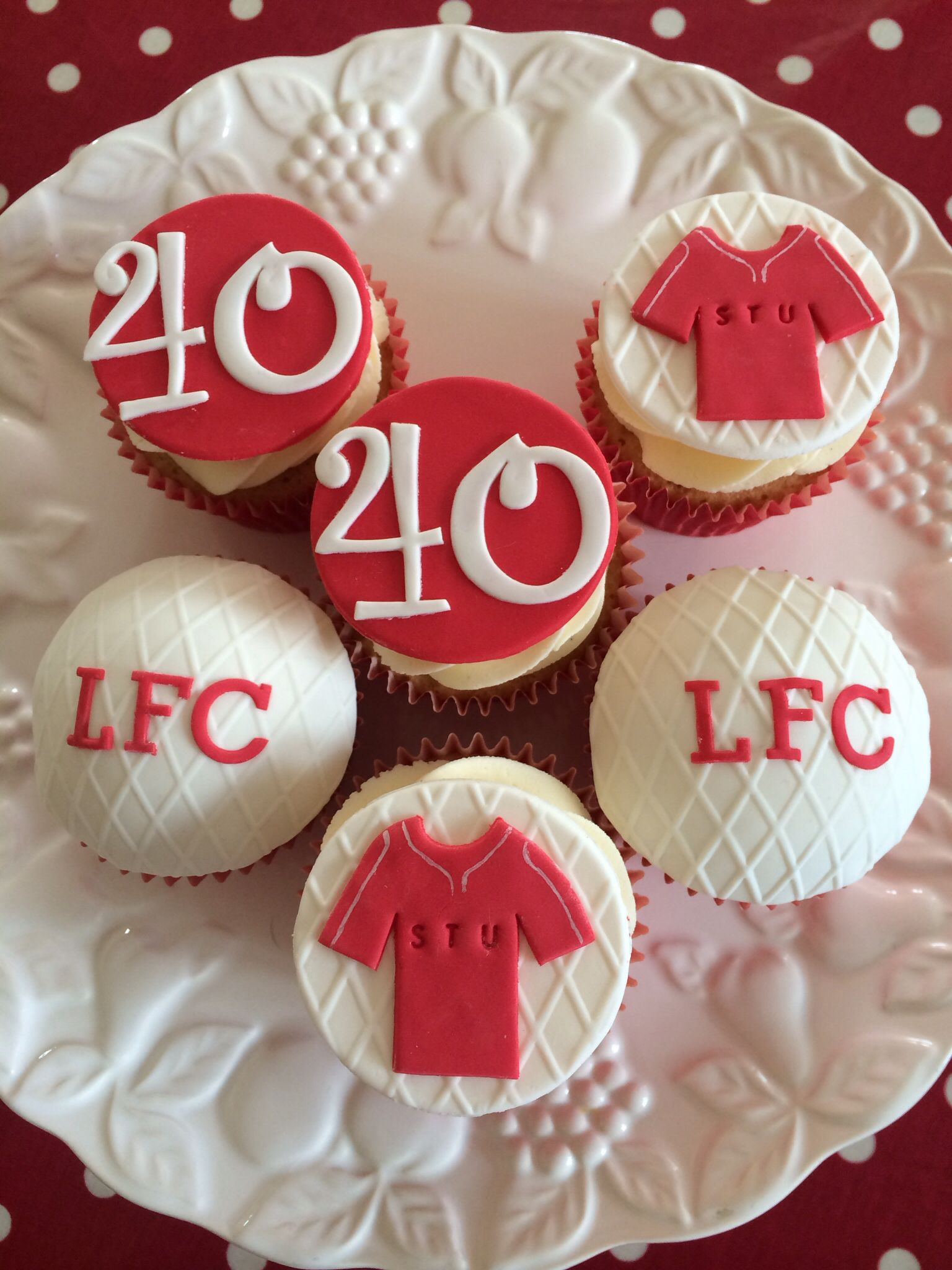 Liverpool cupcakes | Cake, Cupcakes, Liverpool