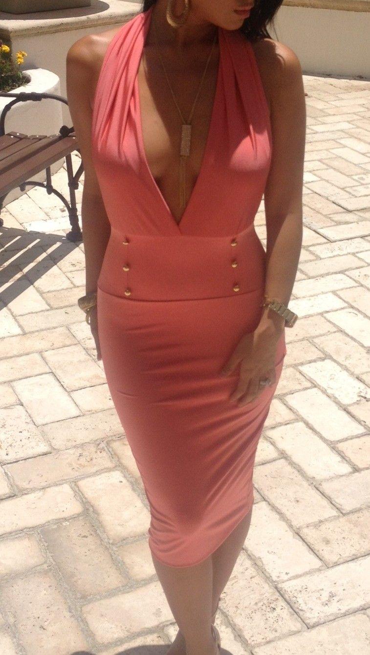 Coral Empress Dress - Dresses