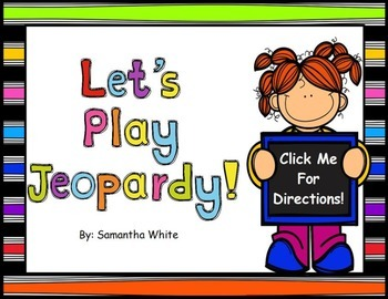 Jeopardy Template Activinspire Flipchart  Activities And School
