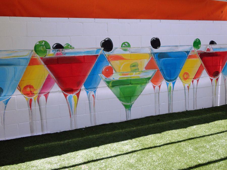 Mural Cocteles Terraza De Verano Pared Murales Y Fotomurales