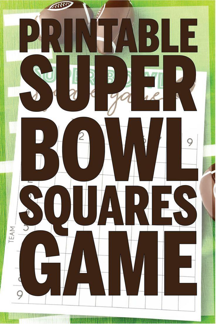 Free Printable Super Bowl Squares Template Superbowl