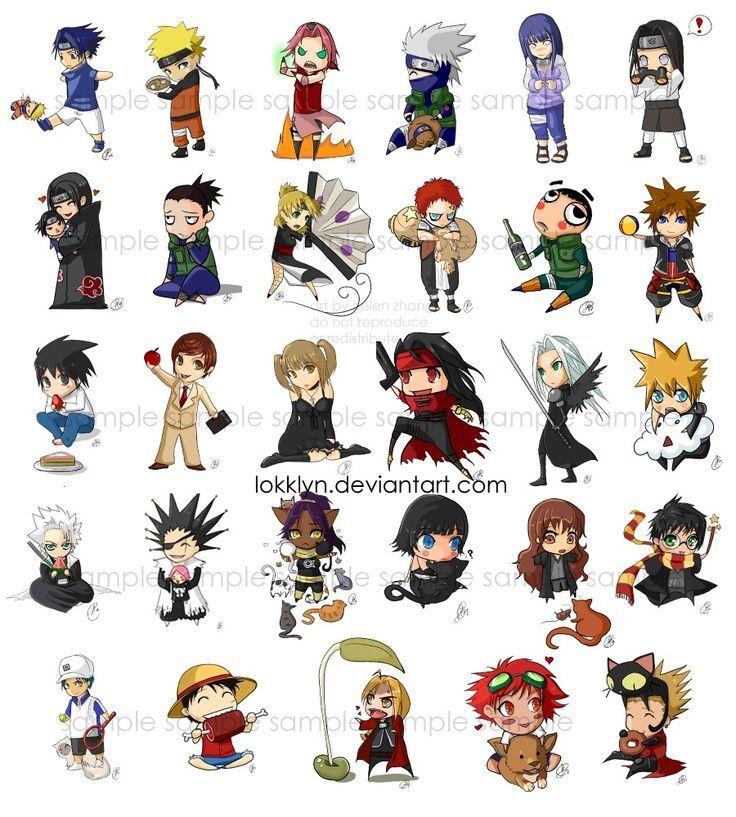 Naruto Harry Potter Kingdom Hearts Fma One Piece