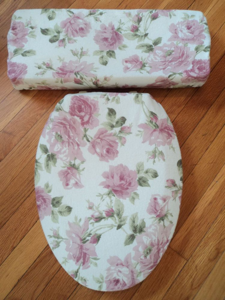Mauve Dusty Rose Romantic Bathroom Decoration Toilet Seat Tank Lid