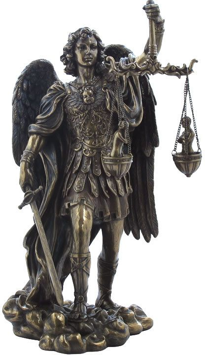 90451e466a2 Saint Michael Weighing Souls Religious Figurine Statue Sculpture-Home  Décor-Decorations-Christian Related Gifts-Available for Sale at  AllSculptures.com