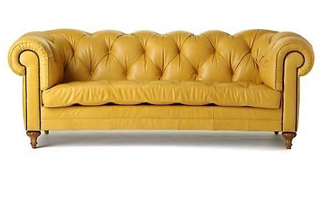 Vintage Henredon Sofa Living Room Leather Eclectic Sofas