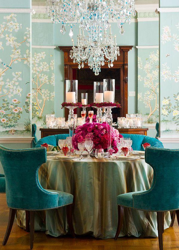 Turquesa  Rosa - excelente contraste Ideas para el hogar